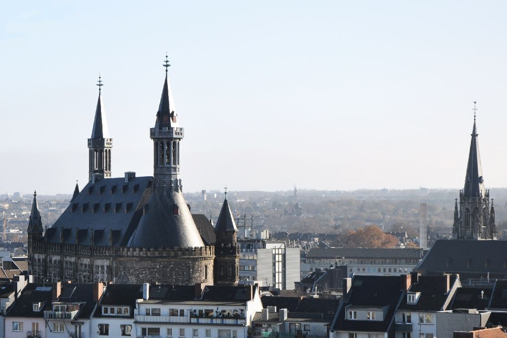 Panoramic view of Aachen
