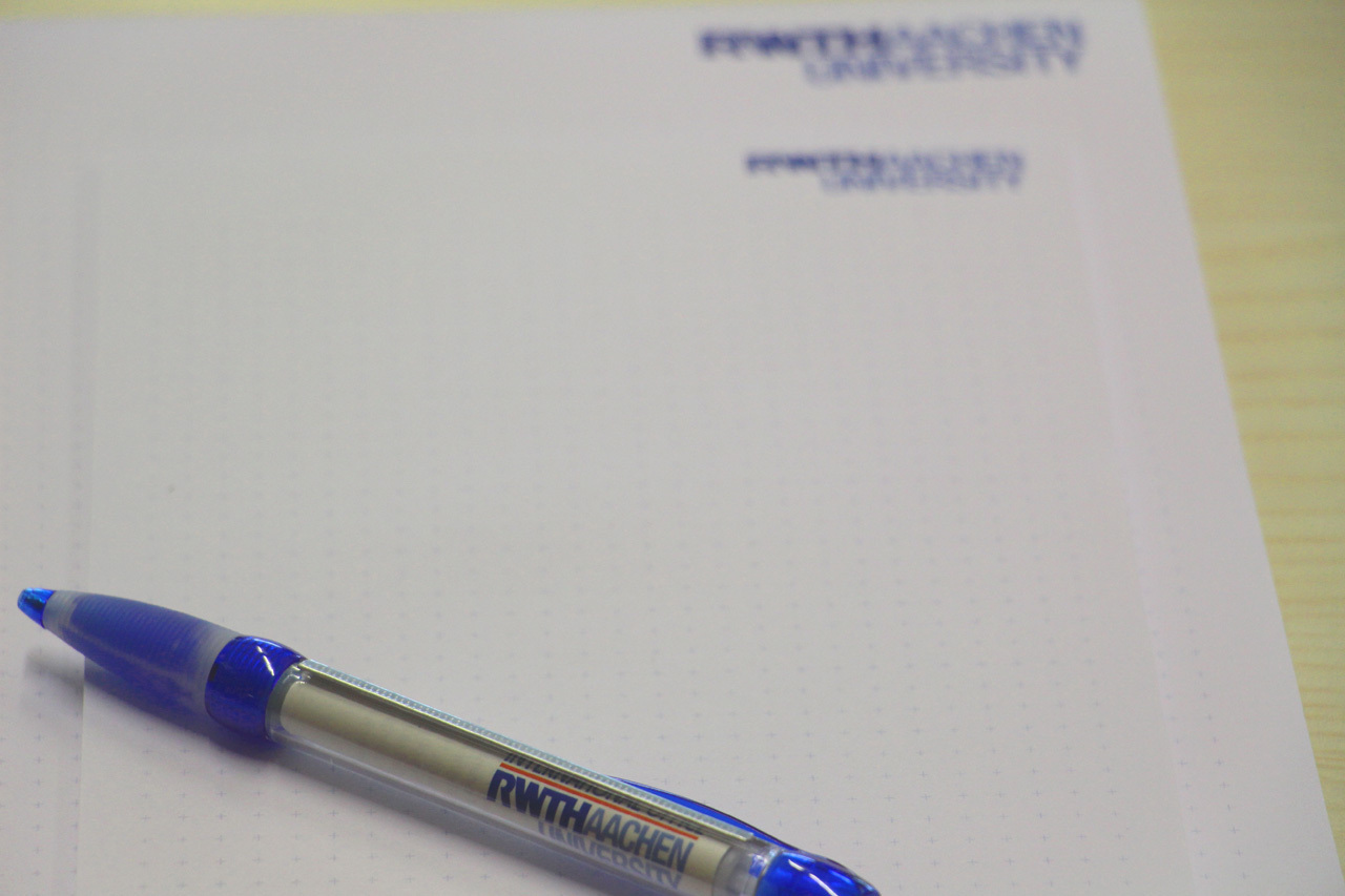 A pen lying on a questionnaire